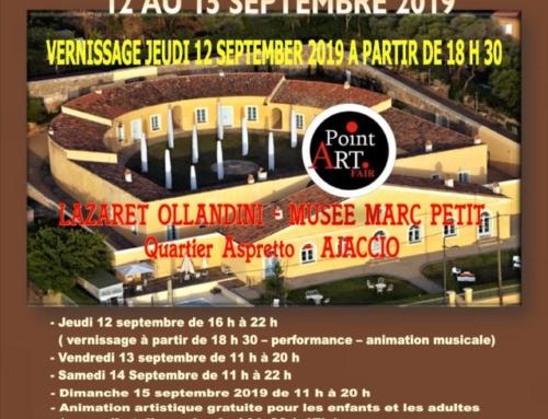 Exposition du 12 au 15/09/19 – Lazaret Musée Marc Petit – Ajaccio